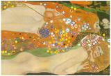 Gustav Klimt Water Snakes Friends II Art Print Poster Posters