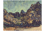 Vincent Van Gogh (Mound at Saint-Rémy) Art Poster Print Prints