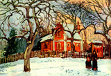 Camille Pissarro Chestnut Tree in Louveciennes Art Print Poster Masterprint