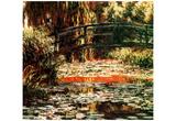 Claude Monet (Le Pont Japonais a Giverny) Art Poster Print Prints