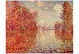 Claude Monet (Autumn in Argenteuil) Art Poster Print Poster