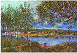 Alfred Sisley Path of the Old Ferry Art Print Poster Posters