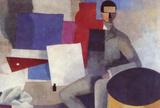 Juan Gris Sitting Man By La Fresnaye Cubism Art Print Poster Masterprint