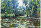 Claude Monet Water-Lilies in Monet's Garden Art Print Poster Poster
