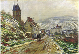 Claude Monet Local Entrance of Vetheuil in the Winter Art Print Poster Photo