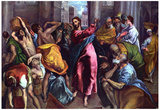 El Greco Christ Drives the Dealers from the Temple Art Print Poster Prints