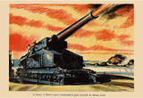A Battery of Britain's Giant Coastal-Defence Guns WWII War Propaganda Art Print Poster Masterprint