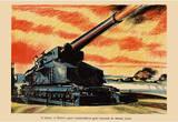 A Battery of Britain's Giant Coastal-Defence Guns WWII War Propaganda Art Print Poster Masterprint