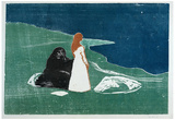 Edvard Munch (Women on the Beach) Art Poster Print Posters