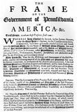 William Penn (First Page of Frame of Government of Pennsylvania) Art Poster Print Posters