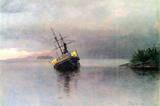 Albert Bierstadt Shipwreck in Loring bay Alaska Art Print Poster Masterprint