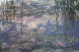 Claude Monet Water Lilies with Clouds Art Poster Print Masterprint