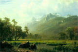 Albert Bierstadt The Sierra Near Lake Tahoe California Art Print Poster Masterprint