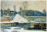 Alfred Sisley The Watering Place at Marly Art Print Poster Photo