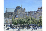 Claude Monet (Saint-Germain-l'Auxerrois Paris) Art Poster Print Posters