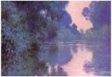 Claude Monet Seine Arm at Giverny Art Print Poster Posters