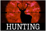 Hunting Red Buck Poster Print Posters