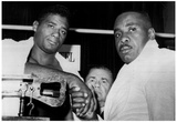 Floyd Patterson and Joe Louis 1962 Archival Photo Sports Poster Poster