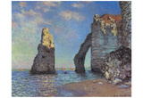 Claude Monet (L'Aiguille and the Porte D'Eval, Etretat) Art Poster Print Prints
