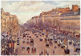 Camille Pissarro (Boulevard Montmartre) Art Poster Print Posters