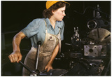 Female Factory Worker Color Archival Photo Poster Poster