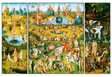 Hieronymus Bosch Garden of Earthly Delights Art Poster Print Obrazy