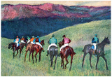 Edgar Degas Horse Racing The Training Art Print Poster Prints