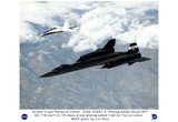 NASA (SR-71B & F/A-18 In Flight, 1997) Art Poster Print Prints