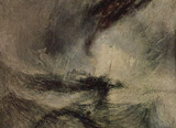 Joseph Mallord William Turner (Snow storm before the harbor entrance) Art Poster Print Masterprint