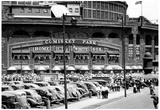 Comiskey Park Chicago Front Gates Archival Photo Sports Poster Prints