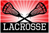 Lacrosse Red Sports Poster Print Posters