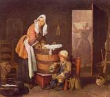 Jean-Baptiste Simeon Chardin (The washerwoman) Art Poster Print Masterprint