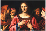 Bernardino Luini Christ among the Doctors Art Print Poster Posters