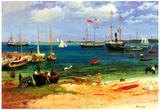 Albert Bierstadt Nassau Port Art Print Poster Posters