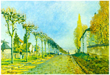 Alfred Sisley Street in Louveciennes Art Print Poster Poster