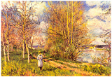 Alfred Sisley The Small Meadows in Spring Art Print Poster Prints