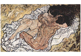 Egon Schiele (The Embrace (The Lovers)) Art Poster Print Poster