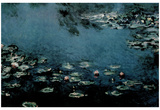Claude Monet (Water Lilies) Art Poster Print Poster