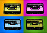 Audio Cassette Tapes Bright Pop Art Print Poster Masterprint