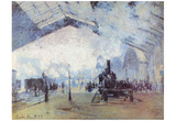 Claude Monet (Gare Saint Lazare in Paris) Art Poster Print Prints