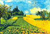 Alfred Sisley Grain Fields on Hills of Argenteuil Art Print Poster Masterprint