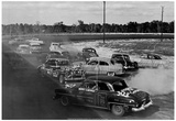 Demolition Derby 1962 Archival Photo Poster Poster