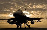 F-16C Fighting Falcon (Sunrise) Art Poster Print Masterprint