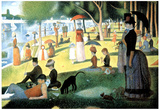 Georges Seurat (A Sunday Afternoon on the Island of La Grande Jatte) Art Poster Print Pósters