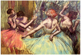 Edgar Degas Four Dancers Behind the Scenes 2 Art Print Poster Posters