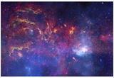 NASA's Great Observatories Examine the Galactic Center Region Space Photo Art Poster Print Plakaty