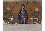 Byzantine Mosaizist to 1118 (Mosaics in the Hagia Sophia, Szene: Maria throne end with blessing Chr Prints