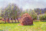 Claude Monet Heap of Hay in the Field Art Print Poster Masterprint