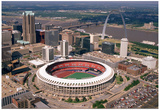 Busch Stadium Aerial Color St Louis Archival Photo Sports Poster Photographie