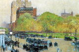 Childe Hassam Spring Morning in the Heart of the City Art Print Poster Masterprint